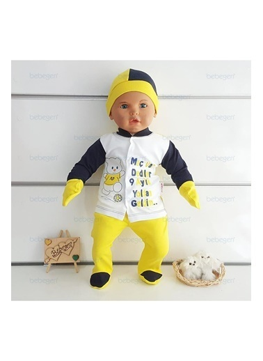 By Bebek Odam By Bebek Odam Yazı Baskılı 4 Parça   Bebek Set Renkli